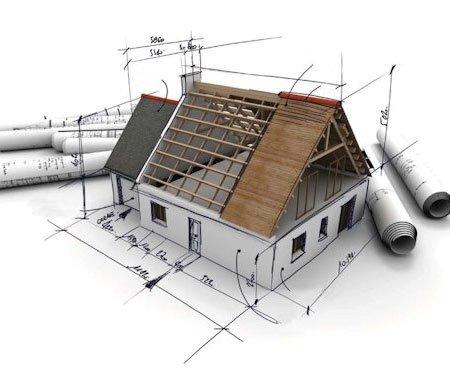 Sketch do design de uma casa